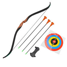 Children Recurve Bow Arrow Set Youth Kid Wood Shooting Training Game Gift 10lbs