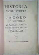 Settecentina- Historia morbi scripta ab Jacobo de Scovolo libro antico medicina