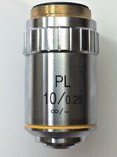 10X, obiettivo polarizzante Infinity 0.25NA olio, Corrected RMS Thread-GTVE 1004
