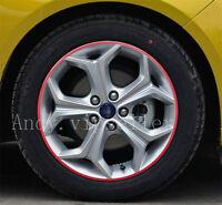 A Set Reflective Auto Wheel Hub Light Red Four-Wheel Decoration Sports Stickers