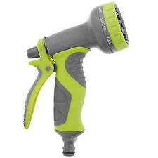 More details for 8 function garden hose pipe water nozzle spray gun with comfort easy grip handle