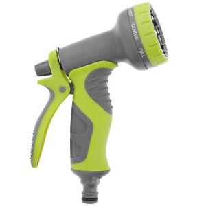 8 Function Garden Hose Pipe Water Nozzle Spray Gun With Comfort Easy Grip Handle