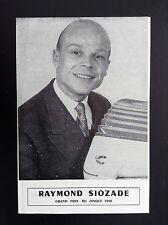 Rare Dépliant Disques Vogue Raymond Siozade