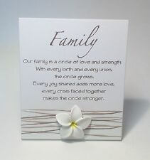 Family Poem Plaque Sign Gift Idea for Family Mum Dad Sister Brother WF027