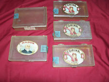 Old Plastic Cigar Boxes Box Corina Larks R G Dun Vintage Tobacco Holder Display