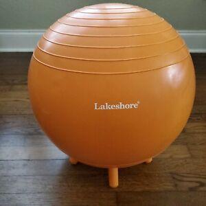 Stability Ball Exercise Balancer Yoga Workout Orange Lakeshore 16 inch No Pump