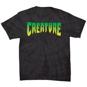 Creature Skateboards Creature Logo T-Shirt Spider Black $25
