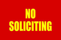 """NO SOLICITING 12""""x8"""" BUSINESS SECURITY SIGN"""