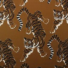 "P KAUFMANN LE TIGRE SAFARI BROWN TIGER LEOPARD ANIMAL PRINT FABRIC BY YARD 54""W"
