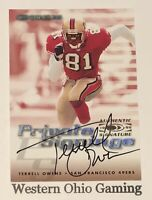 1999 Donruss Terrell Owens Private Signings Auto Autographed Card READ