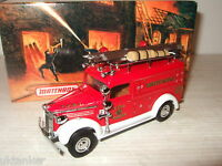 New Rare Matchbox YFE10 1937 GMC Rescue Squad Van, Fire Services Vehicle