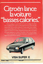 PUBLICITE ADVERTISING 096  1980  Citroen  la Visa Super E basses calories
