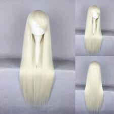 Ladieshair Cosplay Wig Perücke blond 80cm glatt Karneval Halloween GTC