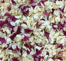 Biodegradable Burgundy IVORY Wedding Confetti NATURAL Petals DYE-FREE 7 Guests