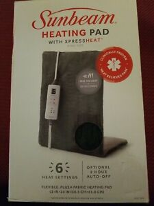 Sunbeam Heating Pad With Xpress Heat King Size Auto-Shutoff 6 Heat Settings