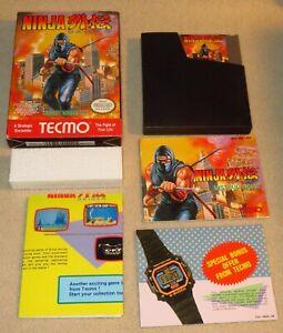 Ninja Gaiden (NES Nintendo, 1989) w Near-Mint Box, Instructions, Poster: Tested