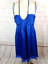 Betsy Johnson Silk cocktail mini  Dress 4 Electric Blue