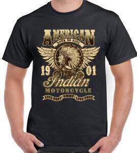 Indian American Motorcycle T-Shirt Biker Motorbike Bikie Born to Ride