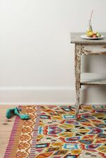 Anthropologie Wool Crewel Embroider Rug Gorgeous!! 9' X 12' Org $2195 Last One