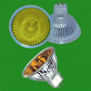 6x 20W Coloured MR11 12V Halogen Spot Light Bulb Lamps Reflector Amber Yellow