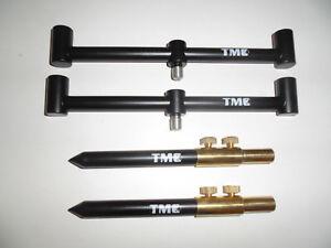 TMC 2 x 2 Rod Anodized Aluminium Goal Post set.2 x 20cm Bars, 2 x 15-25cm sticks