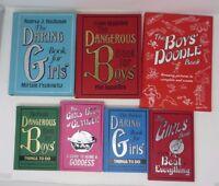 DANGEROUS Book for Boys Daring Girls Lot 7 Set Pocket Doodle Be Best Everything