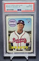 2018 Topps Heritage Ronald Acuna RC #580 PSA 10 Gem Mint Rookie Invest