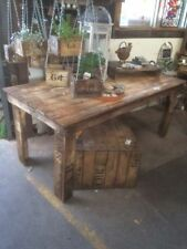 1 x dining table table rustic wooden old vintage industrial display timber farm
