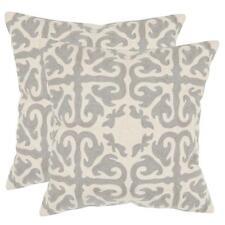 New Safavieh Light Gray Moroccan Pillow, 18 in x 18 in