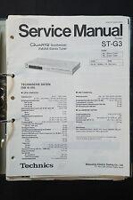 Technics st-g3 FM/AM Tuner ORIGINAL SERVICE MANUAL/Service-manuel/schéma de branchement