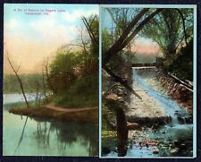 Antique Colorized Picture Landscape Postcards, Qty. 2, M.E. Bogarte & E.C. Kropp