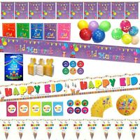 Eid Mubarak Party Decorations Banner Balloons Flags Bunting Cards Gift Set
