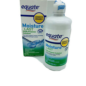 Equate Moisture Last Multi Purpose Solution Disinfect 12 fl. oz. Exp 09/21