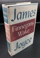 Finnegans Wake ~ James Joyce ~ True First 1st/1st US Edition ~ Original DJ 1939