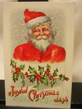 Vintage Embossed Chrstmas Postcard Santa