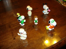 SNOOPY & FRENDS ~ LOT #1 ~ 6 SMALL FIGURES ~ EXCELLENT CONDITION ~  LQQK