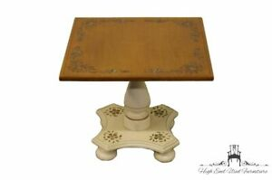 """ETHAN ALLEN White Hitchcock Style 19"""" Accent Table 14-9218 in 604 Finish"""