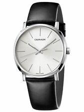 Calvin Klein Men's Posh K8Q311C6 40mm Silver Dial Leather Watch