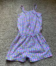 Baby Gap Pastel Hearts One Piece Sleeveless Romper Size 5