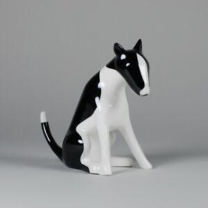 Porcelain figurine BULL TERRIER AS Ćmielów