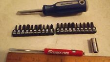 "Blue Point 1/4"" 23 pc Speed Handle w/allens,tamper torx, Snap On Screwdriver SA+"