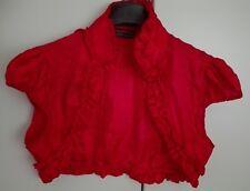 Coprispalla rosso bolero corto laminato tg L
