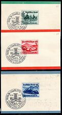 GERMANY 1939 AUTO EXHIBITION SET ON GERMAN BANK ADVERTISING CARDS Sc B134-6