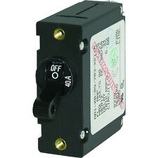 Blue Sea 7224 AC / DC Single Pole Magnetic World Circuit Breaker  -  40 Amp