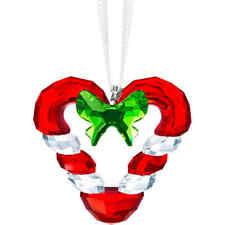 SWAROVSKI CRYSTAL CANDY CANE HEART ORNAMENT #5403314 BRAND NIB XMAS SAVE$$ F/SH