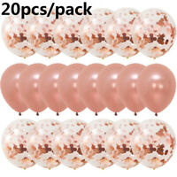 Decoration DIY  Wedding Supplies Latex Balloon  Rose Gold Foil Confetti Set