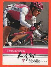 ORIG. autographe tomas Konečny // t-Mobile team 2004!!! rare