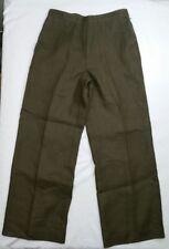 Talbots Petites Womens Pants 6 Irish Linen Drab Green 6P