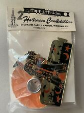 Nos 2 Vintage Halloween Foil Candleholders and Favors in Package, Decorations