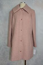 Jessica Simpson  braided a-line rose colored wool blend coat  size 1X  NWT